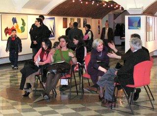 All'inaugurazione della mostra di Maria Luisa Grimani a Monza