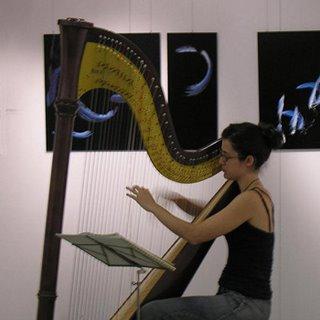 Elena Cordoublas all'arpa