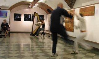 Il combattimento di Tai Chi Chuan alla mostra di Monza